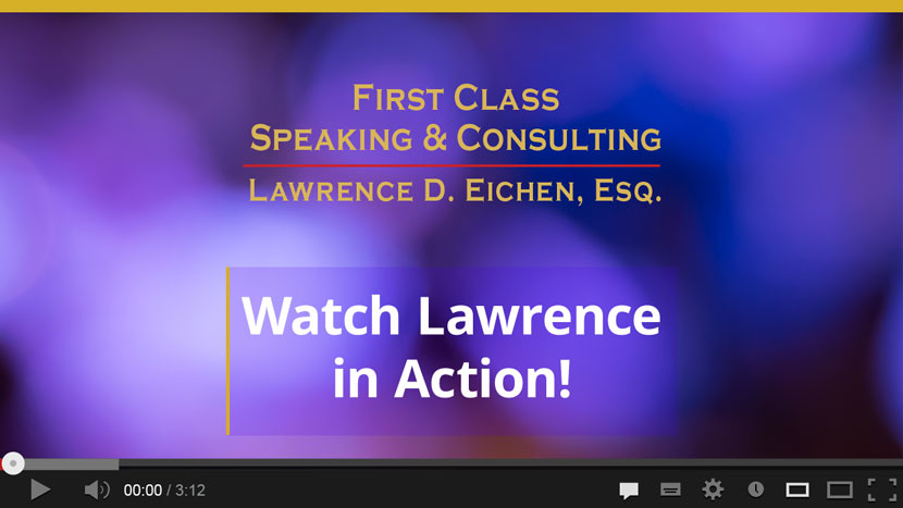 New Jersey Negotiations & Sales Speaker - Lawrence D. Eichen, Esq.